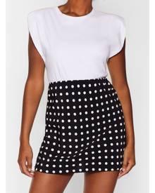 NastyGal Womens polka dot mini skirt - Black