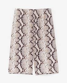NastyGal Womens Snake Print High Waisted Biker Shorts - Sand