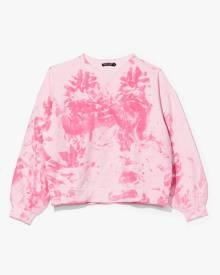 NastyGal Womens Oh My Love Tie Dye Sweatshirt - Pink