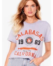 NastyGal Womens Calabasas Oversized Graphic T-Shirt - Grey