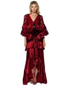 Romance Was Born - Crimson Magnolia Gown