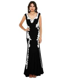 Montique - Ava Embroidered Gown
