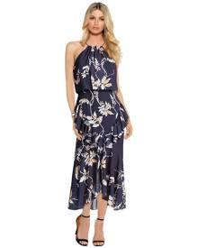 Shona Joy - Curacao Cross Frill Midi Dress
