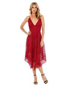 Nicholas The Label Nicholas - Floral Lace Ball Dress - Berry Red
