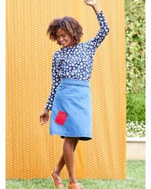 handpicked by birds Patch Denim Skirt