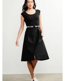 Sacha Drake Belted A-Line Midi Skirt