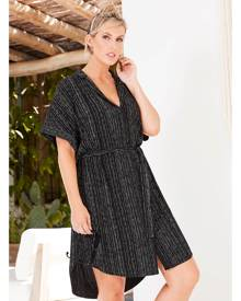 17 Sundays Line Print Shirt Dress