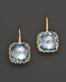 Bloomingdale's 14K White Gold and Sky Blue Topaz Drop Earrings - 100% Exclusive