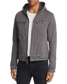 John Varvatos Star Usa Hooded Zip-Front Knit Jacket