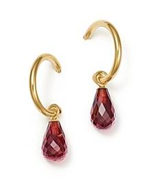Bloomingdale's Garnet Briolette Hoop Drop Earrings in 14K Yellow Gold - 100% Exclusive