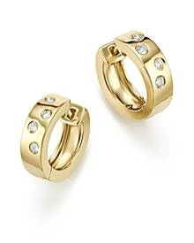 Bloomingdale's Diamond Huggie Hoop Earrings In 14K Yellow Gold, 0.20 ct. t.w- 100% Exclusive