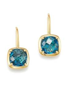 Bloomingdale's Blue Topaz Square Drop Earrings in 14K Yellow Gold - 100% Exclusive