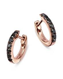 Bloomingdale's Black Diamond Huggie Hoop Earrings in 14K Rose Gold, 0.20 ct. t.w. - 100% Exclusive