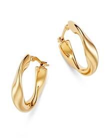 Bloomingdale's Flat Twist Hoop Earrings in 14K Yellow Gold - 100% Exclusive