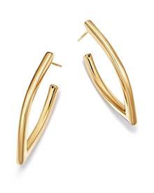Bloomingdale's V-Shape Hoop Earrings in 14K Yellow Gold - 100% Exclusive