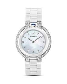 Bulova Rubaiyat Diamond & Mother-of-Pearl Dial Watch, 35mm