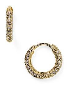 Nadri Pave Huggie Hoop Earrings