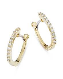 Roberto Coin 18K Yellow Gold Baby Diamond Huggie Hoop Earrings