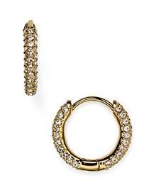 Nadri Huggie Hoop Earrings