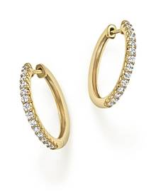 Bloomingdale's Diamond Hoop Earrings in 14K Yellow Gold, .40 ct. t.w.