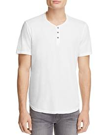 Velvet By Graham & Spencer Velvet Fulton Scallop Hem Henley Tee