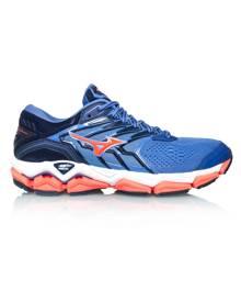 Mizuno Wave Horizon 2 - Womens Running Shoes - Baja Blue/Fiery Coral