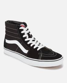 Vans Sk8 Hi-Top Trainers - Black/White - UK 9 - Black