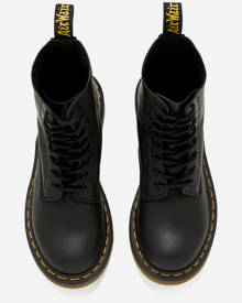 Dr. Martens Women's Pascal Virginia Leather 8-Eye Lace Up Boots - Black - UK 8 - Black