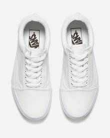 Vans Old Skool Trainers - True White - UK 7 - White