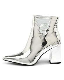 Therapy Alloy Silver Boots Womens Shoes Party Ankle Boots