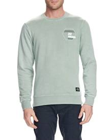 Mossimo Mens - ROCKINGHAM CREW NECK FLEECE - SAGE - S