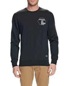 Mossimo Mens - ROCKINGHAM CREW NECK FLEECE - BLACK - S