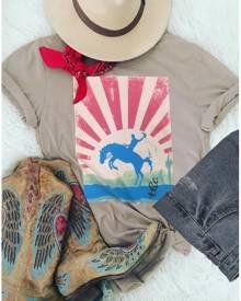 The Horse O-Neck Short Sleeve T-Shirt Tee