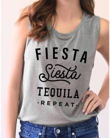 Fiesta Siesta Tequila Repeat Tank