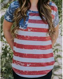 Striped American Flag T-Shirt