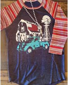 Striped Splicing O-Neck Baseball T-Shirt