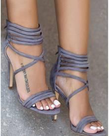Cross-Strap High Heeled Sandals