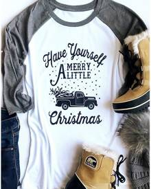 Have Yourself Merry A Little Christmas Baseball T-Shirt