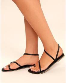 Solid Braid Flat Sandals