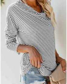 Striped Drop Sleeve T-Shirt Tee