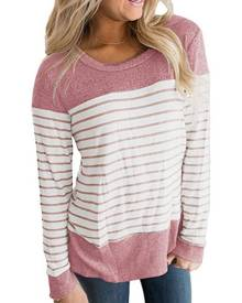Striped O-Neck Long Sleeve T-Shirt