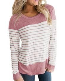 Striped O-Neck Long Sleeve T-Shirt