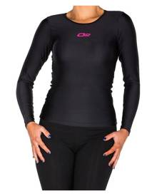 o2fit Womens Compression Long Sleeve Top - Black
