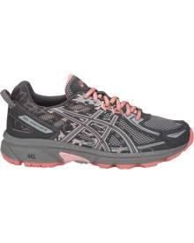 Asics Gel Venture 6 GS - Kids Girls Trail Running Shoes - Carbon/Mid Grey/Seashell Pink