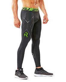 2XU Refresh Recovery Mens Compression Tights - Black/Nero