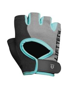 Lift Tech Classic Womens Gym Gloves - Black/Grey/Teal