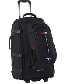 Black Wolf Grand Tour 85L Wheeled Travel Pack & Daypack - Black