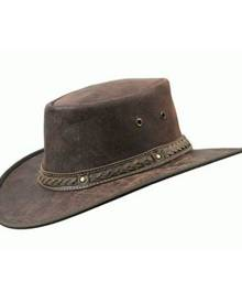 Barmah Hats BARMAH SQUASHY ROO CRACKLE LEATHER HAT [Hat Size:XL]