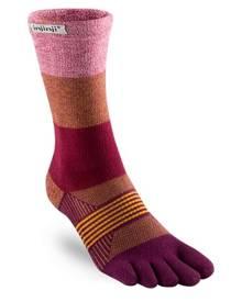 Injinji Trail 2.0 Womens Specific Midweight Crew Socks - Pomergranate