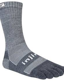 Injinji Outdoor MidWeight Crew Performance Toe Socks - Granite [Sock Size:Small]